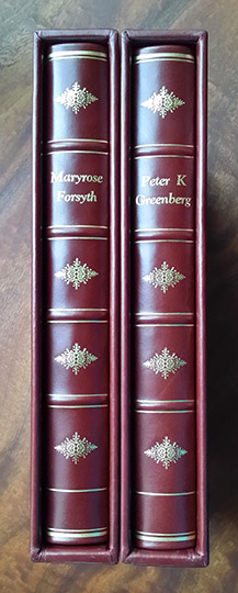 Deluxe Red Leather Spine Art