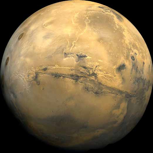 pictures of mars the planet. The planet Mars Valles Marineris photograph